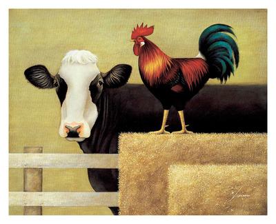 Barnyard Cow Posters by Lowell Herrero
