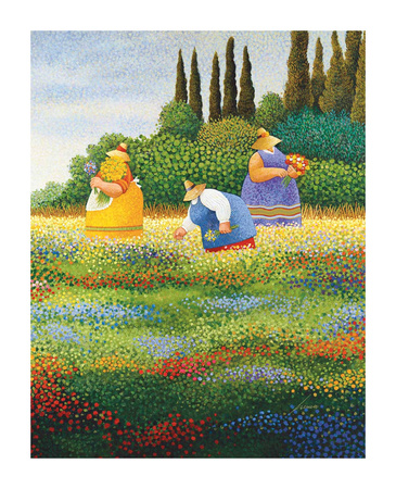 Spring Gathering Posters by Lowell Herrero