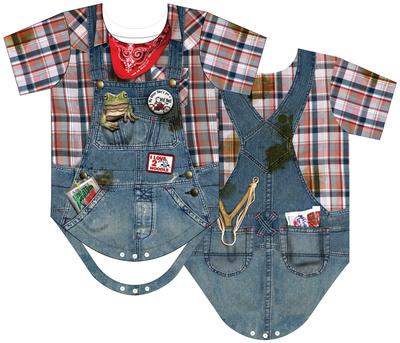Infant: Hillbilly Costume Romper Infant Onesie