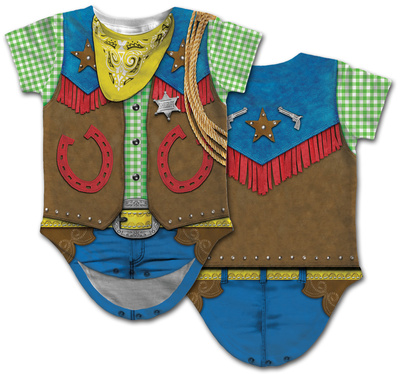 Infant: Cowboy Costume Romper Infant Onesie
