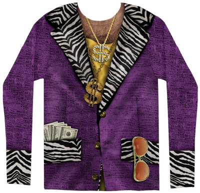 Long Sleeve: Big Pimpin Costume Tee Long Sleeves