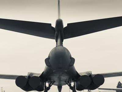 USA, South Dakota, Rapid City, South Dakota Air and Space Museum, USAF B-1B, Bomber Photographic Print by Walter Bibikow