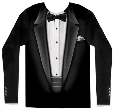 Long Sleeve: Tuxedo Costume Tee Koszulka z długim rękawem