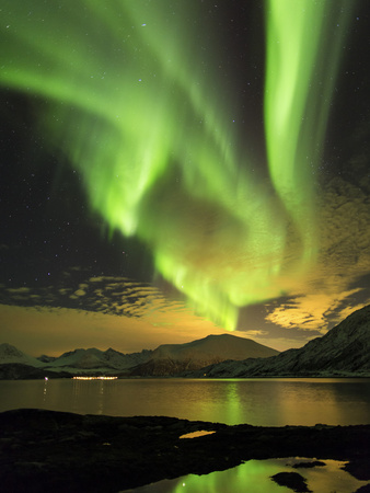Aurora Borealis, Northern Lights, Troms Region, Norway Photographic Print by Gavin Hellier