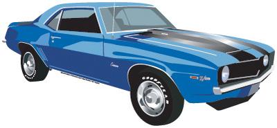 1969 Camaro Die-Cut Tin Sign Tin Sign