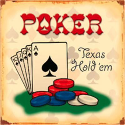 Texas Hold em Poker Tin Sign Tin Sign