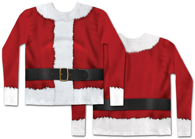 Long Sleeve: Santa Claus Costume Tee T-shirts