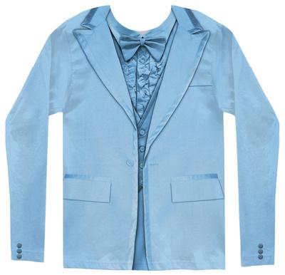 Long Sleeve: Blue Tuxedo Costume Tee Long Sleeves