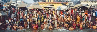 India Uttar Pradesh Varanasi (Benares) Religious Rites in the Holy Ganges Photographic Print by Gavin Hellier
