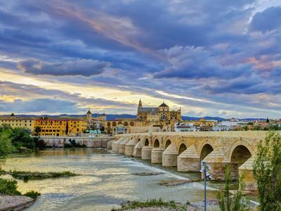 Roman Bridge Over Guadalquivir River and Mezquita, Cordoba, Cordoba Province, Andalucia, Spain Photographic Print by Alan Copson