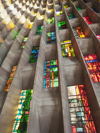England, Warwickshire, Coventry, New Coventry Cathedral Photographic Print by Steve Vidler