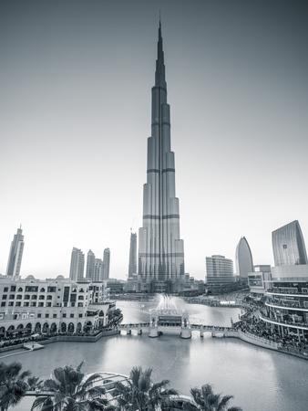Burj Khalifa (World's Tallest Building), Downtown, Dubai, United Arab Emirates Photographic Print by Jon Arnold