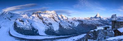 Matterhorn, Monte Rosa Range and Gornergletscher, Zermatt, Valais, Switzerland Photographic Print by Jon Arnold