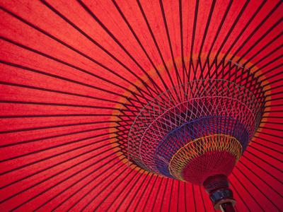 Japan, Kyoto, Higashiyama, Japanese Red Umbrella Photographic Print by Steve Vidler