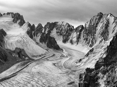View from Teke-Tor Towards Peaks, Ala Archa National Park, Tian Shan Mountains Photographic Print by Nadia Isakova