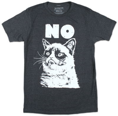 Grumpy Cat NO t-shirt picture