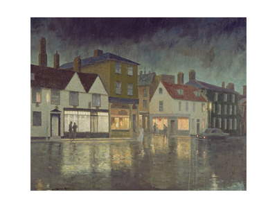 Angel Hill, Bury St. Edmunds, 1962 Giclee Print by Leonard Campbell Taylor