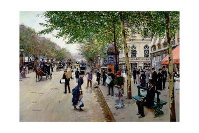 Parisian Street Scene Giclee Print by Jean Béraud