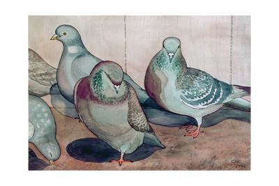 Pigeons Giclee Print by Carolyn Hubbard-Ford