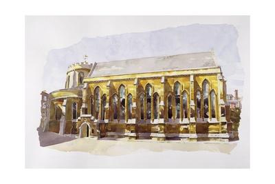 Temple Church, Temple Giclee Print by Annabel Wilson