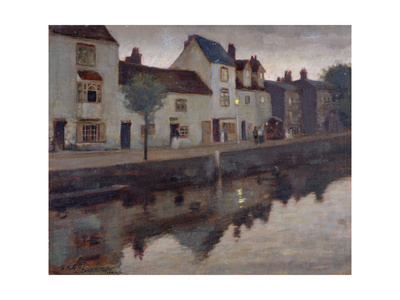 Study for Op.30, the Canal, Sunset after Rain, 1905 Giclee Print by Leonard Campbell Taylor