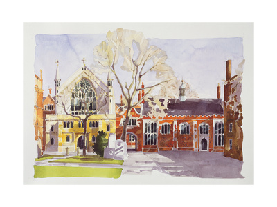 Chapel and Hall, Lincoln's Inn Giclee Print by Annabel Wilson
