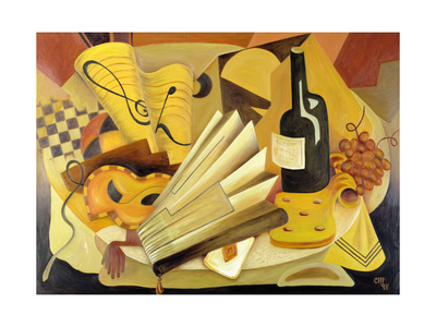 A Theatrical Dinner, 1998 Giclee Print by Carolyn Hubbard-Ford