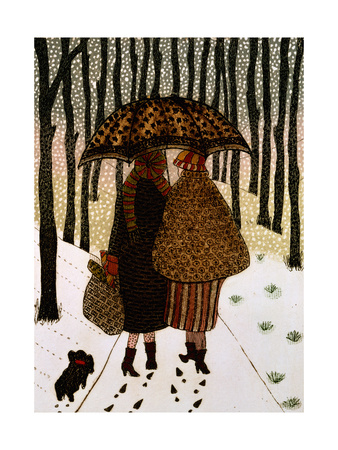 Snowflakes Giclee Print by Gillian Lawson