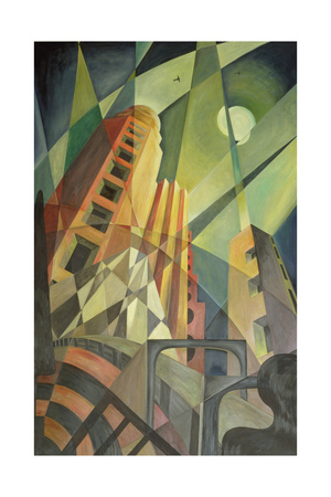 City in Shards of Light Giclee Print by Carolyn Hubbard-Ford