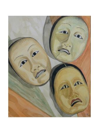 Oriental Masks Giclee Print by Carolyn Hubbard-Ford