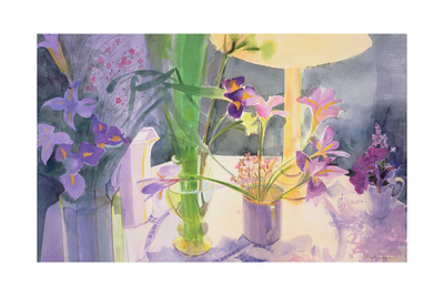 Winter Iris Giclee Print by Claire Spencer