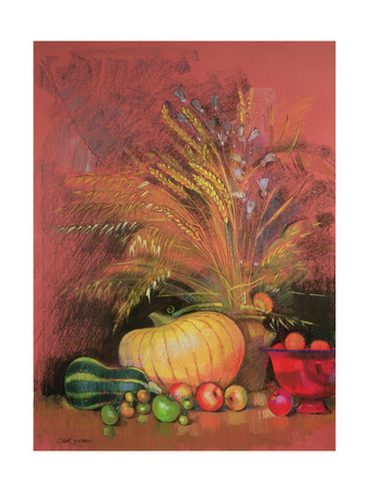Autumn Harvest Giclee Print by Claire Spencer