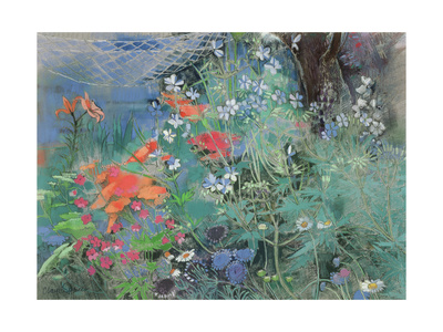 Summer Garden Giclee Print by Claire Spencer