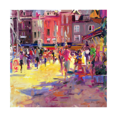 Honfleur Promenade outdoor summer scenes fine art print by Peter Graham