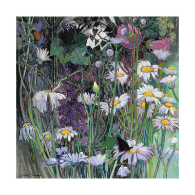 The White Garden Giclee Print by Claire Spencer