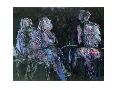 Two Women and a Man, 1986 Giclee Print by Stephen Finer