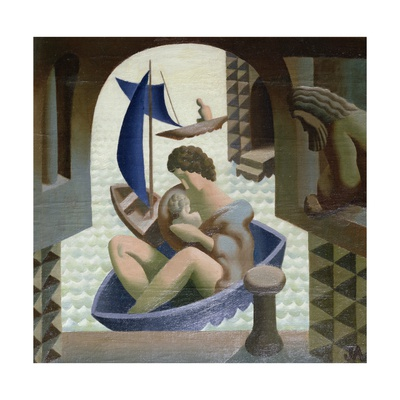 The Arrival of Danae, 1928/29 Giclee Print by John Armstrong