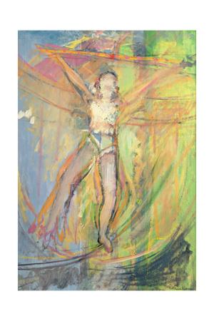 Walking a Tightrope, 1992 Giclee Print by Pamela Scott Wilkie