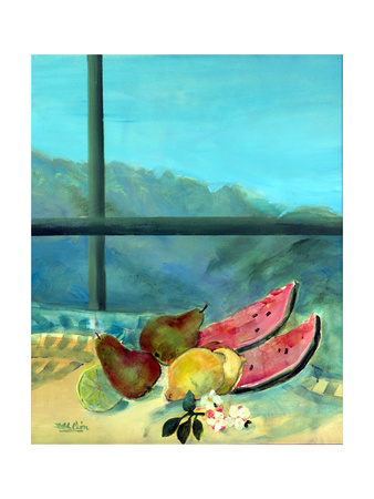 Still Life with Watermelon Giclee Print by Marisa Leon