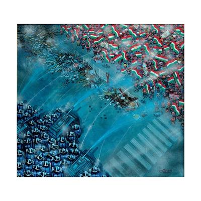 Baricade, 2006 Giclee Print by Tamas Galambos