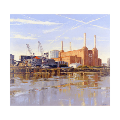 Battersea Power Station, 2004 Giclee Print by Tom Young