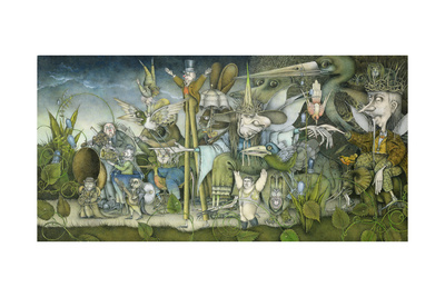 Fairy Procession Giclee Print by Wayne Anderson