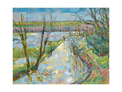 The Cherwell from Rousham I Giclee Print by Erin Townsend
