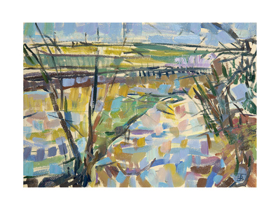 The Flooded Cherwell from Rousham I Giclee Print by Erin Townsend