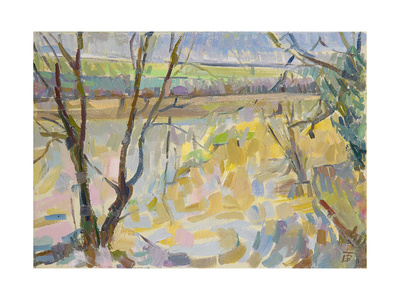 The Flooded Cherwell from Rousham II Giclee Print by Erin Townsend