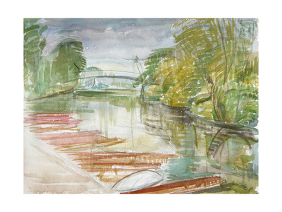 Punts on the Cherwell Giclee Print by Erin Townsend