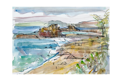 Le Renard Near Guimaec, Brittany Giclee Print by Erin Townsend