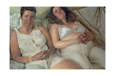Two Women in White, 2000 Giclee Print by Victoria Russell