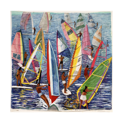 Smooth Sailing, 1992 Giclee Print by Komi Chen