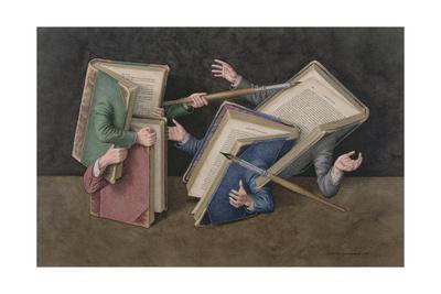 A Literary Joust, 2006 Giclee Print by Jonathan Wolstenholme